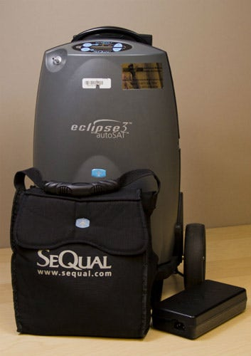 SeQual Eclipse 3 Portable Concentrator with Carry Bag