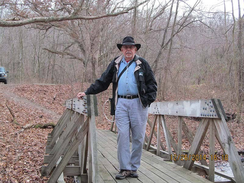 Ron hiking in December 2014, Buzzard s Roost -Chillicothe, Ohio.