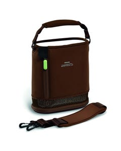 Respironcis SimplyGo Mini Brown Carry Bag and Strap