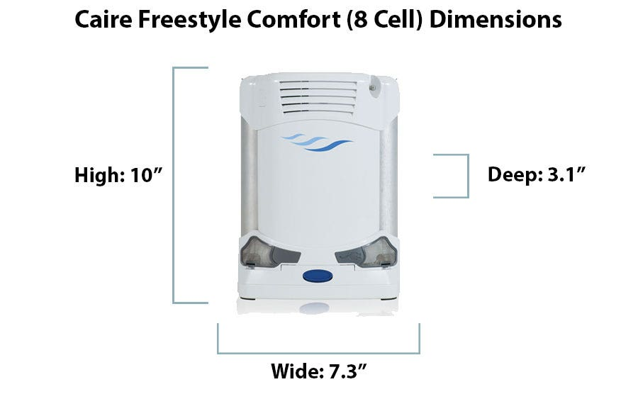 What are the Dimensions of the Caire Freestyle Comfort?