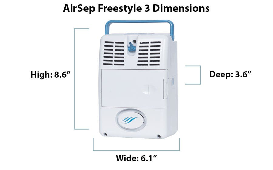 What are the Dimensions of the AirSep Freestyle 3?