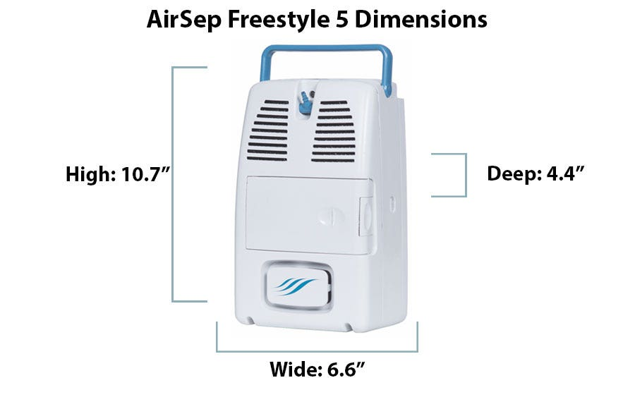 What are the Dimensions of the AirSep Freestyle 5?
