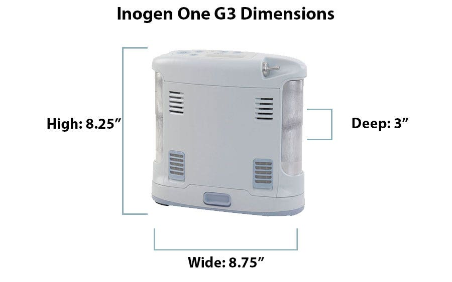 What are the Dimensions of the Inogen One G3?