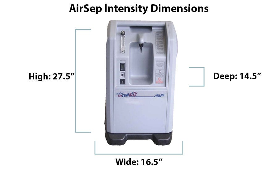 What are the Dimensions of the AirSep Intensity 10?