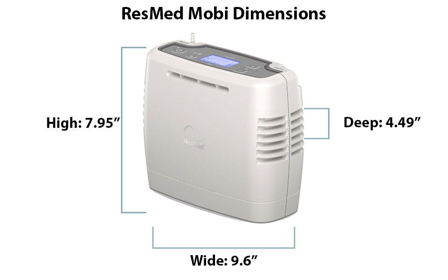 What are the Dimensions of the ResMed Mobi?