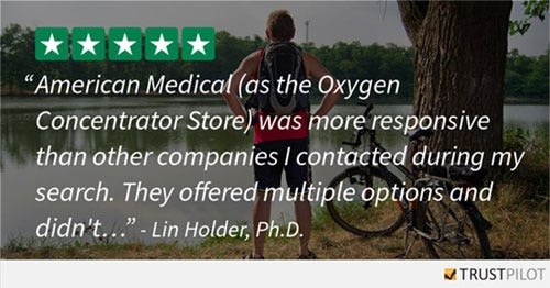 Oxygen Concentrator Store Customer Testimonials