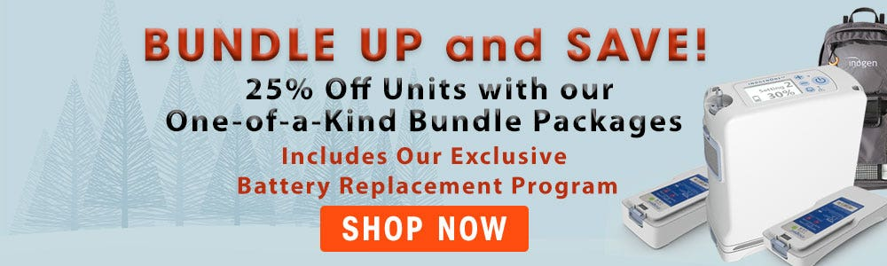 Oxygen Concentrator Store Winter Bundle Up and Save Sale
