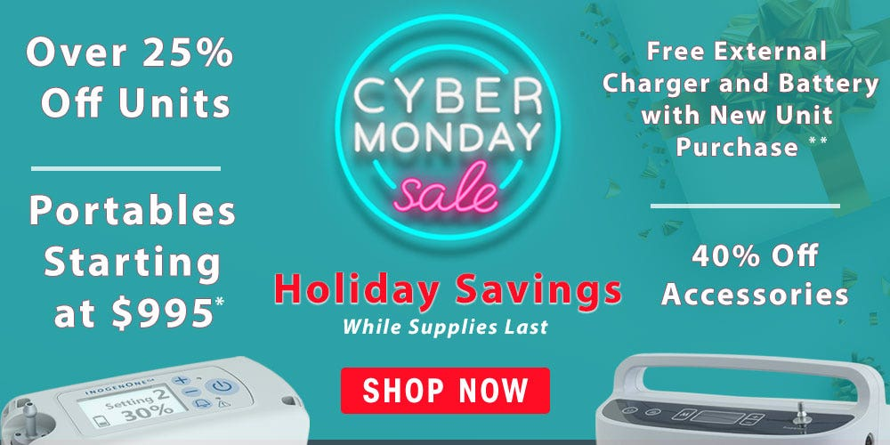 Holiday Oxygen Savings with Our Cyber Monday Sale