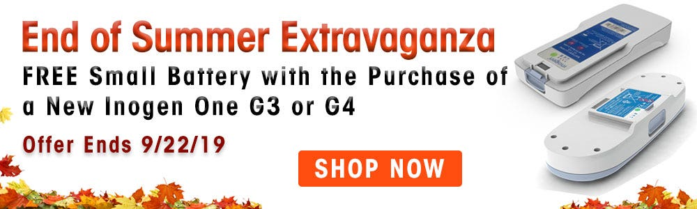 FREE Small Battery with the Purchase of a New Inogen One G3 or G4.