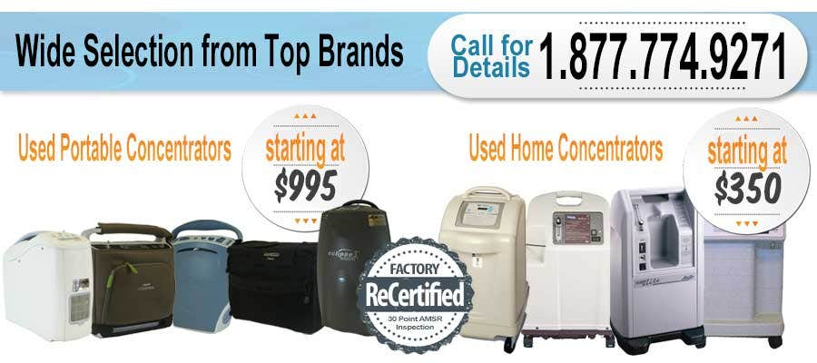 Pre-Owned and Used Oxygen Concentrators for Sale