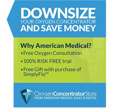 Downsize your Oxygen Concentrator and Save Money