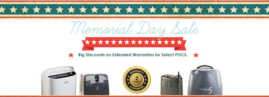 Memorial Day Sale! Big Discounts on Extended Warranties for Select POCS.