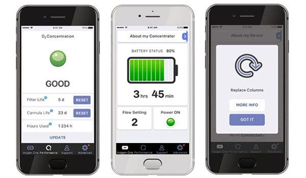 Inogen One G4 Connect Mobile App