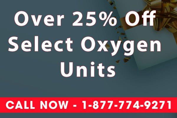 25% Off Oxygen Units - Black Friday Sale