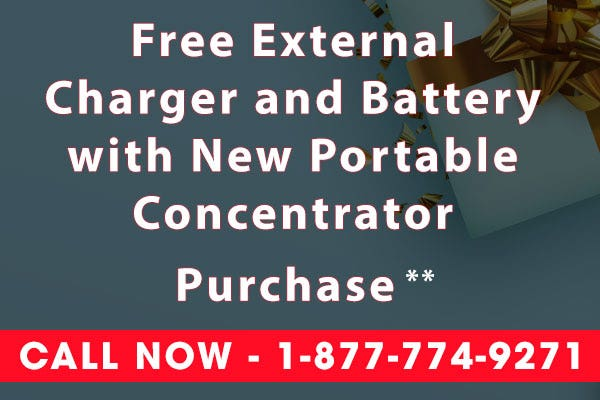 Free Charger and Battery with Oxygen Concentrator - Black Friday Sale