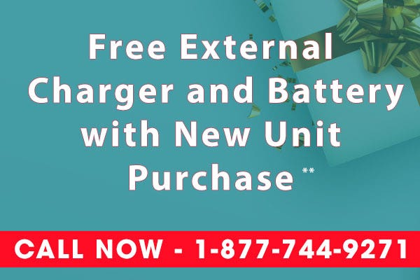 Free Charger and Battery with Oxygen Concentrator - Cyber Monday Sale