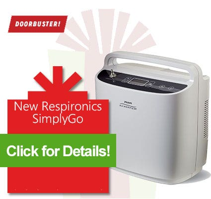 Black Friday Sale - Respironics SimplyGo starting at $1995
