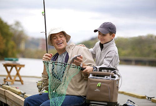 Fishing with the Respironics SimplyGo Portable Oxygen Concentrator